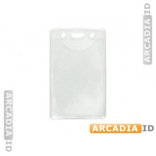 Clear Vinyl ID Holder with Slot and Chain Holes - Portrait/Vertical | 1815-1100