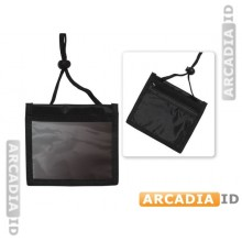 3-Pocket Credential Wallet Holder with Neck Cord and Adjustable Cord Lock | 1860-2601