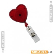 Heart-Shaped Badge Reel With Strap (Translucent)