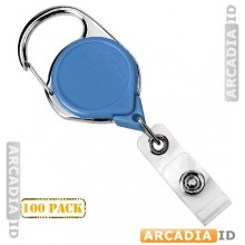 100 Carabiner Badge Reel with Belt Clip