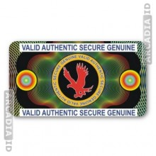 Authentic Eagle ID Card Hologram
