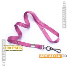100 Pink Breast Cancer Awareness Lanyard