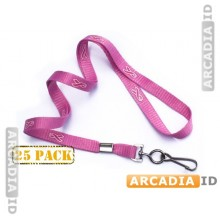25 Pink Breast Cancer Awareness Lanyard