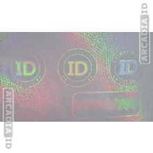 Corporate ID Card Hologram Overlay
