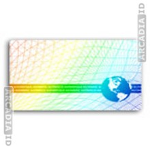 Criss-Cross Lines ID Card Hologram Overlay