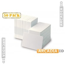 50 White CR80 Cards