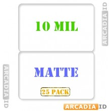 Matte Butterfly Laminating Pouches 10 mil for Teslin® paper - Pack of 25