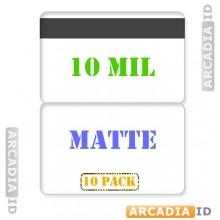 Matte Butterfly Laminates 10 mil with HiCo Magnetic Stripe - Pack of 10