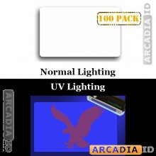 100 Clear ID Overlays with UV Eagle