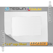 Teslin Synthetic Paper- for Inkjet Printers - Microperforated 1-up ID Card Insert - 10 mil - PPG IJ1000 WP | SP_110