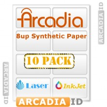 10 x 8-Up Arcadia Paper for Making IDs