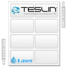 Teslin Synthetic Paper- for Laser Printers - Micro-Perforated 8-up ID Card Inserts - 10 mil - PPG TS1000 | SP_280