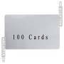 Pack of 100 Blank CR80 ID Cards - Pick a Color