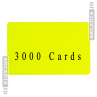 3000 Card Bundle | Blank CR80 ID Cards | Pick a Color!